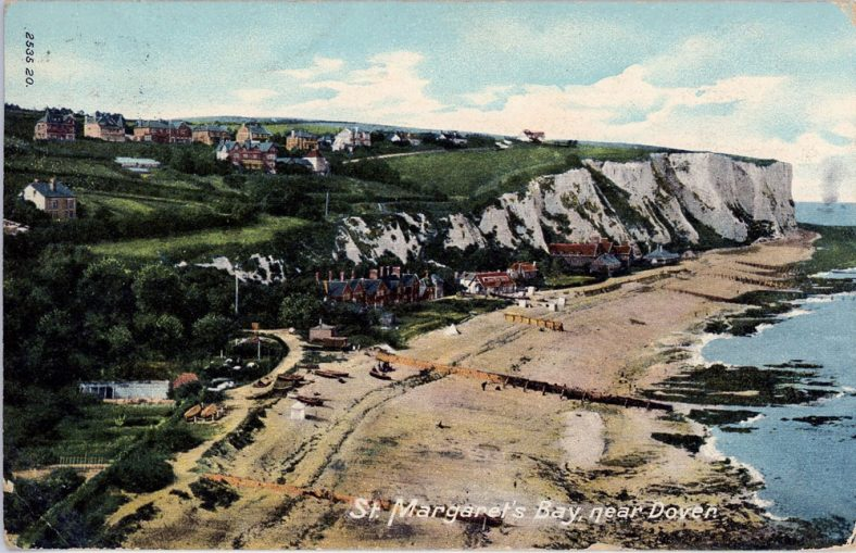 St Margaret's Bay from Ness Point. postmark 1905