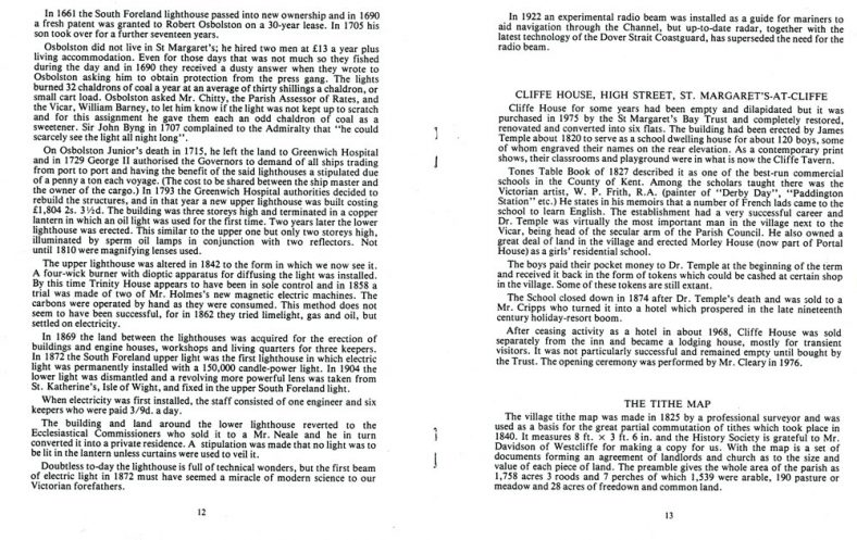 Extract from 'St Margaret's Bay - Piccadilly of the Sea' by John Jewell on Cliffe House School, High Street.