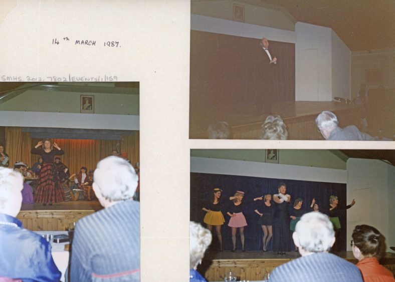 Fund raising event held in the Village Hall for the Herald of Free Enterprise Appeal. 14th March 1987