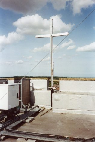 Millenium Cross on the roof of the church tower.  23 August 2005