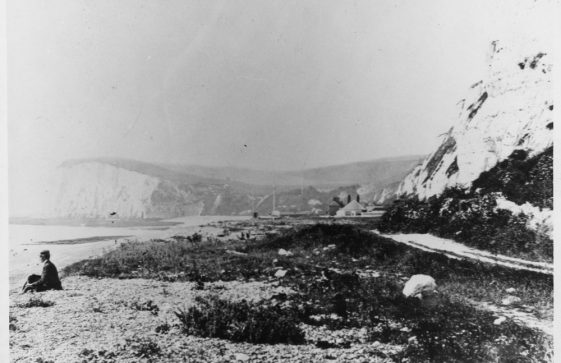 The Undercliff Road from Kingsdown to St Margaret's Bay. Pre 1894