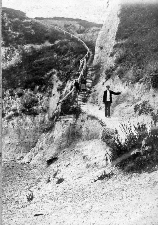 St Margaret's Bay cliff path.
