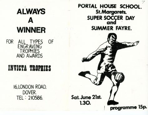 Portal House School Super Soccer Day and Summer Fayre. 24 June (No year given)