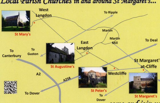 Information postcard showing the four churches in the St Margaret's Benefice. 2014