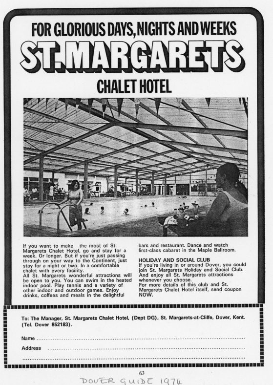 Advertisment for St Margaret's Holiday Camp. 1973 and 1974