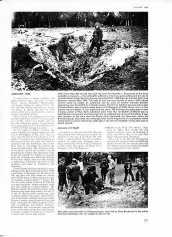 Crashed Focke-Wulf FW190A-5, Oxney Court. January 1944