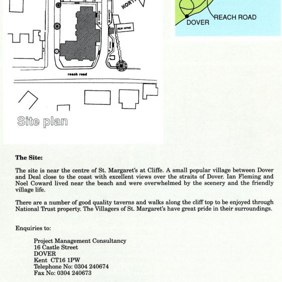 Brochure for the Heath Court Flats, Reach Road. c1989