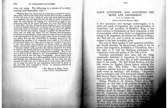 A detailed history of St Margaret's from the Journal of the British Archaeological Association, 30 September 1884