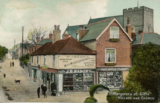 High Street and Madge's Stores. postmark 1910