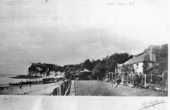The Follies, on the beach in St Margaret's Bay. 1930/39