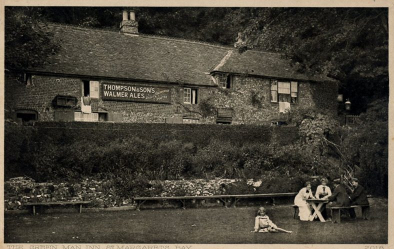 The Green Man from the garden, St Margaret's Bay. c1900