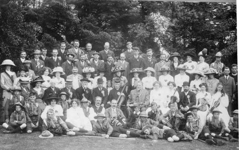 Celebrations for the Coronation of George V in the Vicarage garden. June 1911