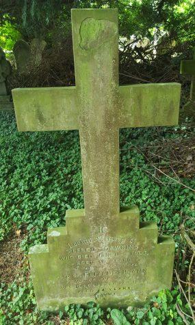 Gravestone of DAWKINS Alfred 1907; DAWKINS Elizabeth Ann 1934