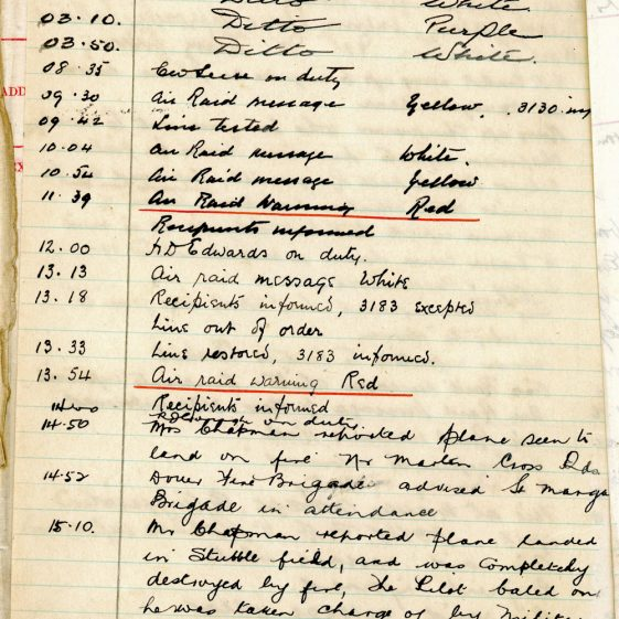 St Margaret's ARP (Air Raid Precautions) Log. Volume 2. 24 July 1940 - 2 November 1940. Pages 73-80