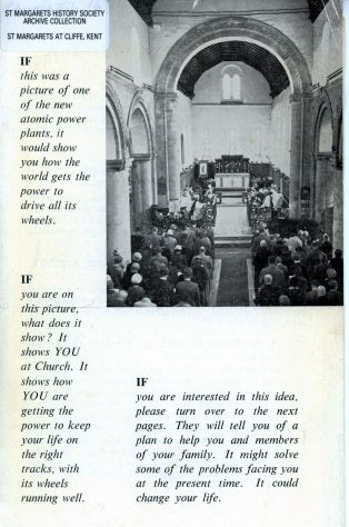 Christian Responsibility Leaflet issued by St Margaret's at Cliffe parish. Summer 1960