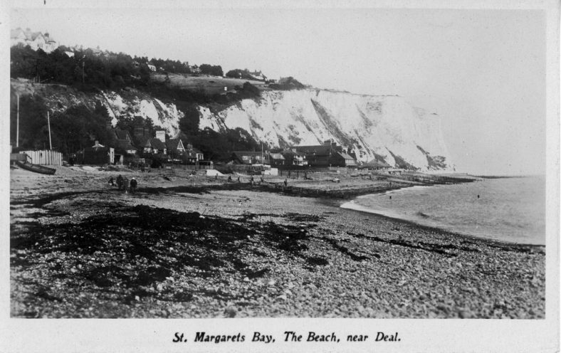 East Cliff from the beach. 1920