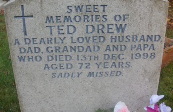 Gravestone of DREW Edward 1998