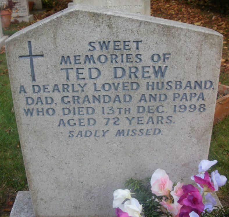Gravestone of DREW Ted 1998 | Dawn Sedgwick