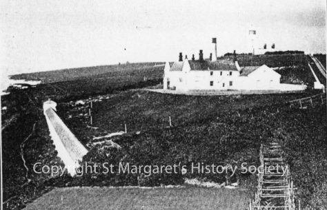 Lower South Foreland Lighthouses power station and testing gallery. 1922