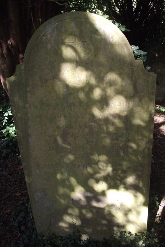 Gravestone of CURLING John Thomas 1913; CURLING Finnis Orpin 1927 | Dawn Sedgwick