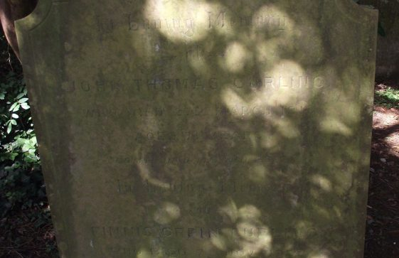 Gravestone of CURLING John Thomas 1913; CURLING Finnis Orpin 1927