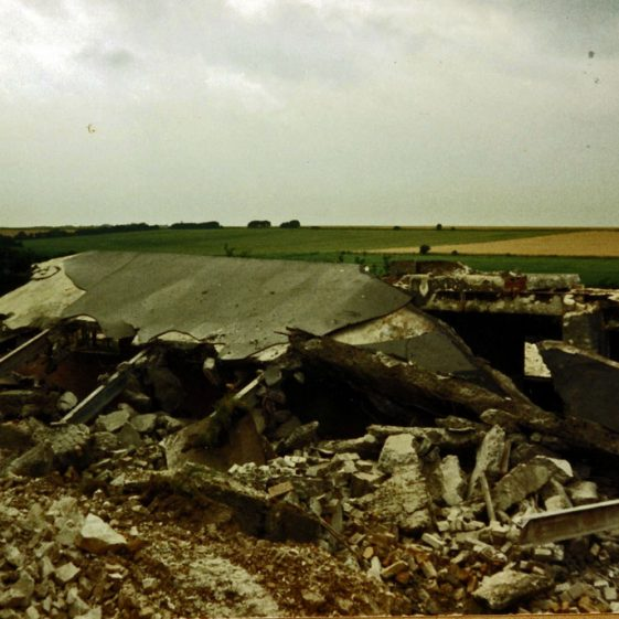 Demolition of military buildings along Lighthouse Road. 25 July 1986