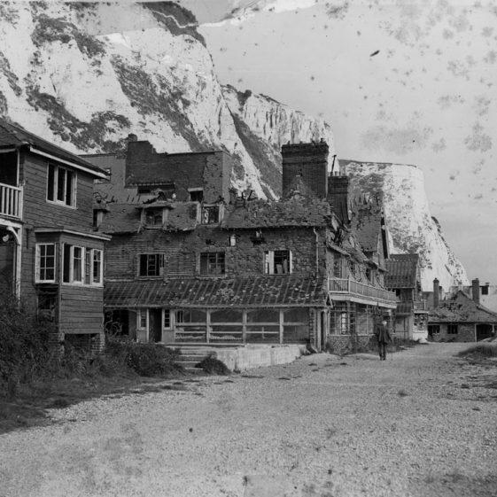 War damaged St Margaret's Bay Hotel. 1947