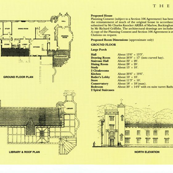 Clutton's sales brochure  for Oxney Court 1997