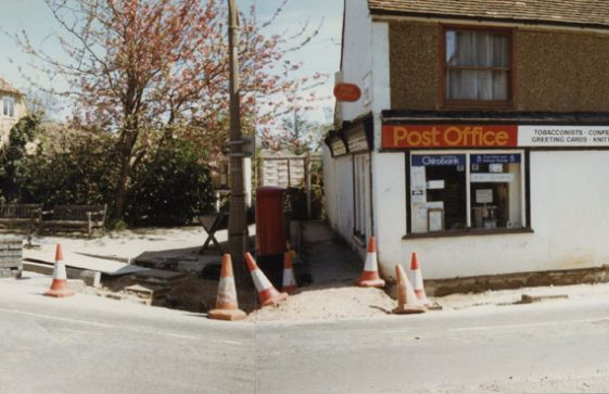Road works in the High Street. May 1986