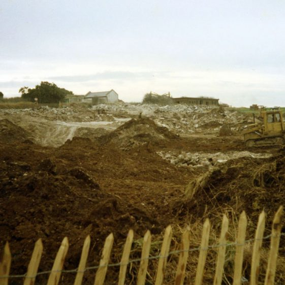 Demolition of 540 Coast Regiment HQs near South Foreland Lighthouse. 27 November 1985