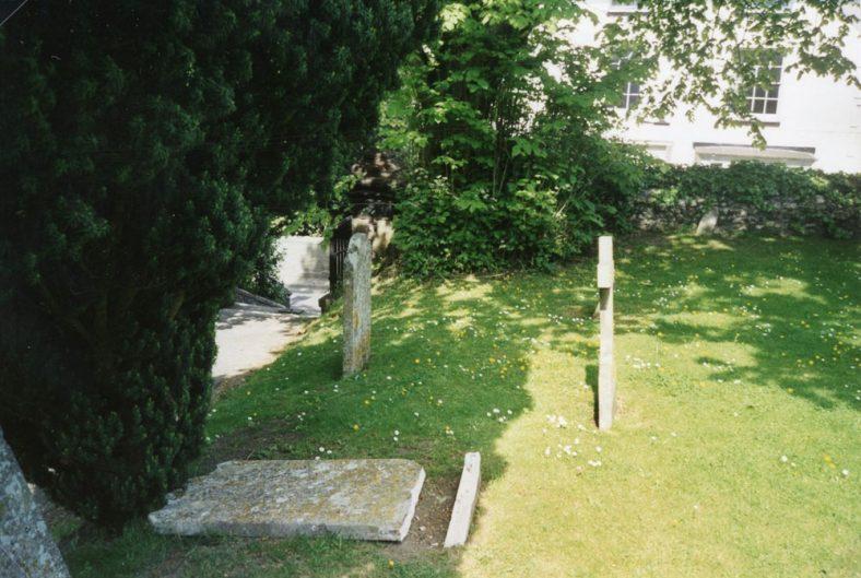 Gravestone damaged by vandals. June 2003 | 2003