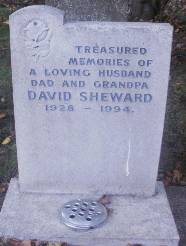 Gravestone of SHEWARD David 1994 | Dawn Sedgwick