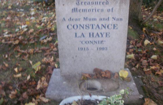 Gravestone of LA HAYE Constance 1993