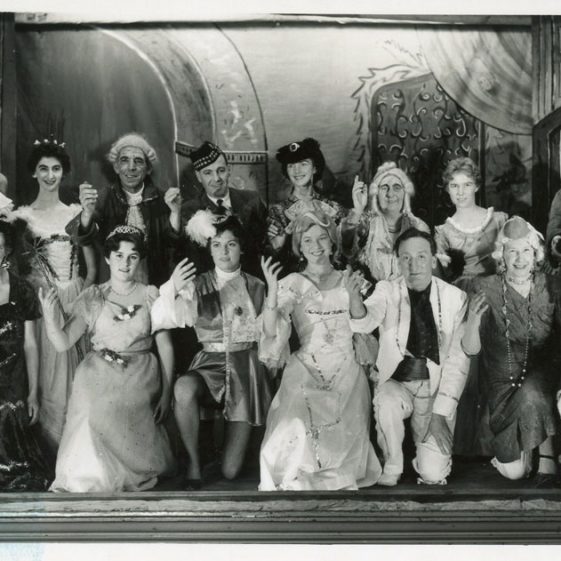 Scene from St Margaret's Players pantomime 'Cinderella'. 1960