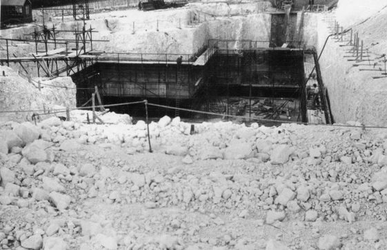 Building the Radar Station, underground section, Bockhill. c1950s