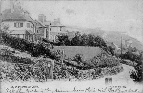 Bay Hill, St Margaret's Bay. postmark 1904