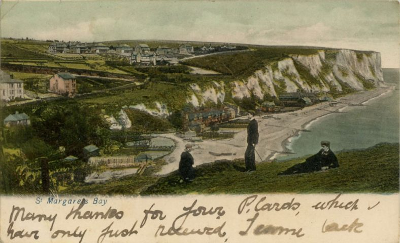 St Margaret's Bay from Ness Point. postmark 1904