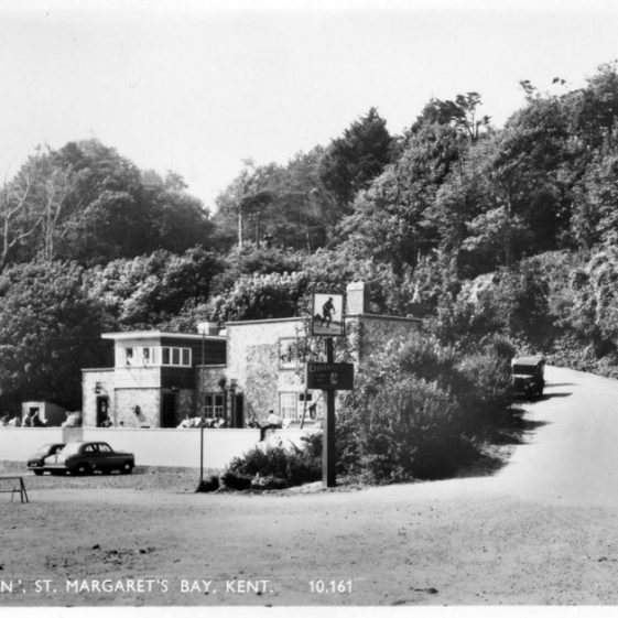 The Green Man St Margaret's Bay from ruin to re-build. post WW2