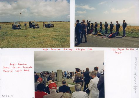 Anglo American Service at the Swingate Memorial Upper Road. 15th August 1986
