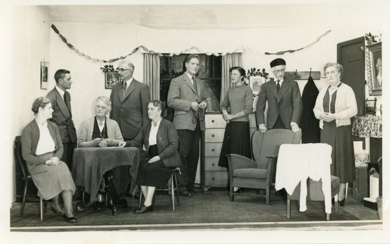 Cast of an unidentified St Margaret's Player's drama. Probably 1950's