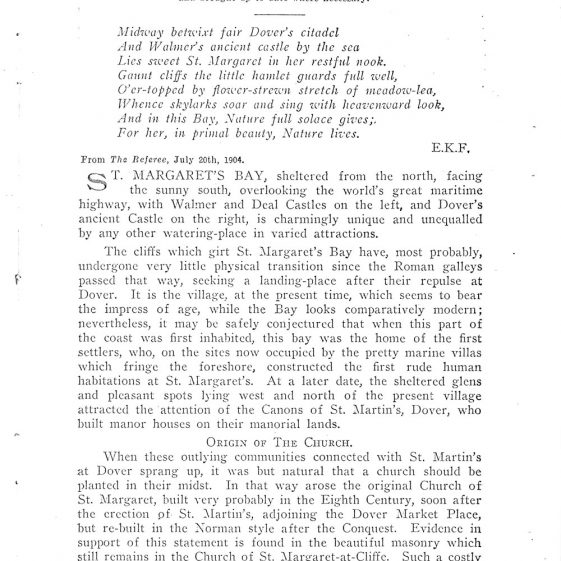 St Margaret's-at-Cliffe Guide 1925, pages 1-12
