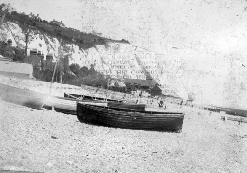 Boats on St Margaret's Bay beach