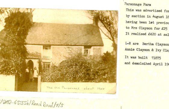 Old Parsonage Farm House, Reach Road.  c 1900