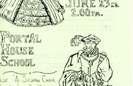 A Programme for the Portal House 'Elizabethan Summer Fayre' on 23 June (No year shown)