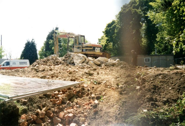 Demolition of the old Village Hall.  May 2001