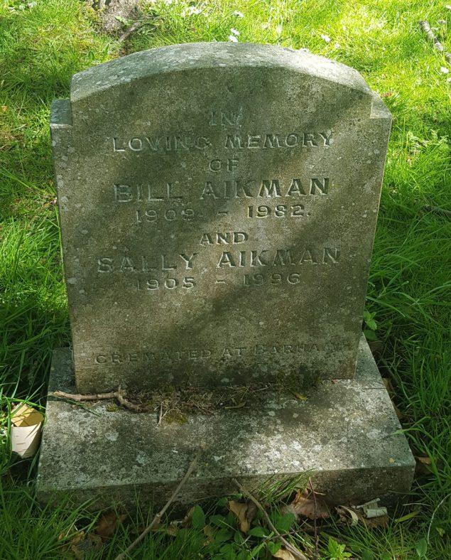 Gravestone of AIKMAN Bill 1982; AIKMAN Sally 1996 | Dawn Sedgwick