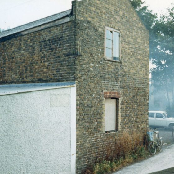 Exterior and interior of Wellard's Livery Stables (Jenner's Garage), Chapel Lane. 1986