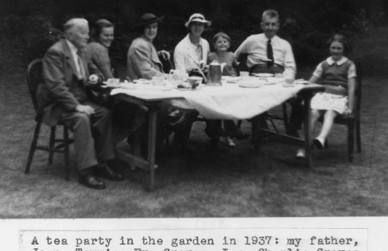 A Tea Party in the garden of the Cliffe Hotel. 1937