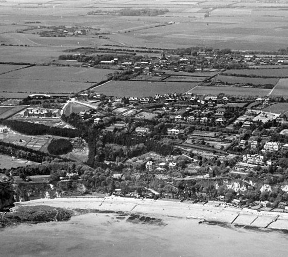 Aerial views of St Margaret's Bay and St Margaret's at Cliffe. c1931