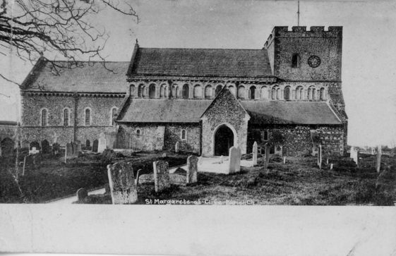 St Margaret's Church from the north. c1900